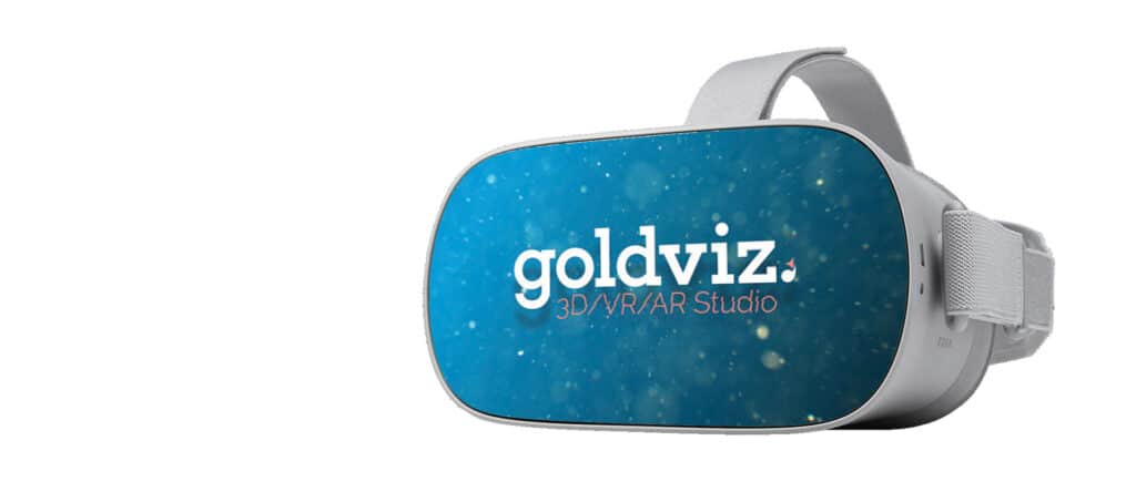 oculus go vr bril met de goldviz sticker gemaakt met de vr bril sticker template