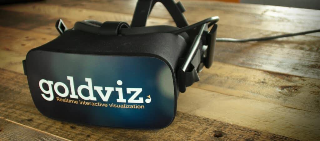 oculus rift vr bril met de goldviz sticker gemaakt met de vr bril sticker template